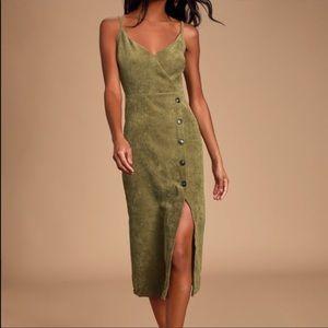 Cute olive corduroy dress